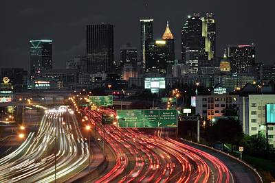 Photograph - Atlanta Nightscape by Frozen in Time Fine Art Photography