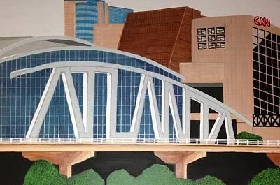 Atlanta City Painting - Atlanta by Omari Slaughter