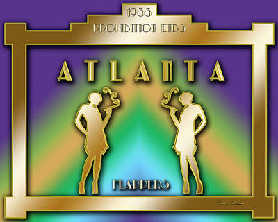 Digital Art - Atlanta Prohibition by Chuck Staley