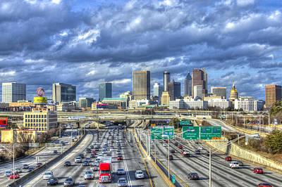Photograph - Atlanta Red Truck Express by Reid Callaway