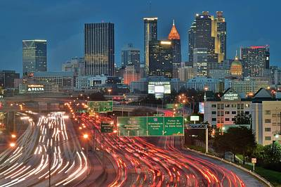 Photograph - Atlanta Rush Hour by Frozen in Time Fine Art Photography