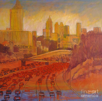 Atlanta City Painting - Atlanta Rush by Kip Decker