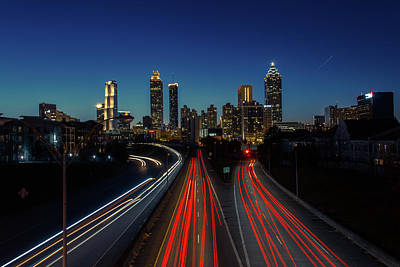 Atlanta Skyline 1 Art Print