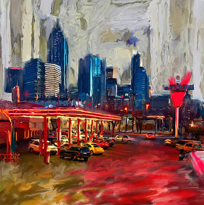Dallas Skyline Wall Art - Painting - Atlanta Skyline 231 1 by Mawra Tahreem