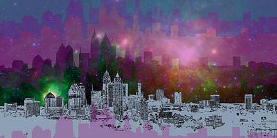 Atlanta Skyline Digital Art - Atlanta Skyline 7 by Alberto RuiZ