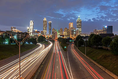 Photograph - Atlanta Skyline After Sunset by Willie Harper