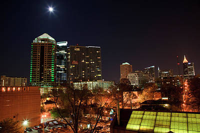 Photograph - Atlanta Skyline At Night by Jill Lang