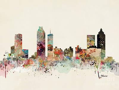 Painting - Atlanta Skyline by Bleu Bri