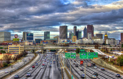 Photograph - Atlanta Skyline Cityscape 3 Downtown Atlanta Art by Reid Callaway