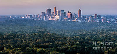 Atlanta Skyline Art Print by Doug Sturgess