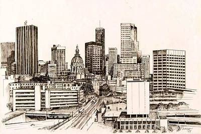 Atlanta Skyline Art Print by Pamir Thompson
