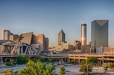 Atlanta Skyline Philips Arena Art Print