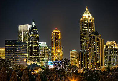 Photograph - Atlanta Skyscrapers  by Anna Rumiantseva
