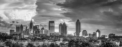Photograph - Atlanta Sunset Panorama 2 Cityscape Art by Reid Callaway