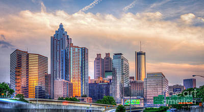 Photograph - Atlanta Sunset Reflections 7 Art by Reid Callaway