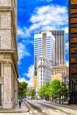 Photograph - Atlanta's Flatiron On Peachtree Street by Mark E Tisdale