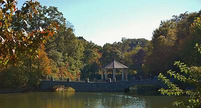 Photograph - Atlanta's Piedmont Park Lake Clara Meer by Christopher James