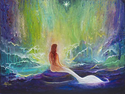 Of Sirens Painting - Atlantian Vision  by Lily Nava