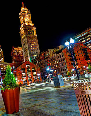 Photograph - Atlantic Avenue And The Customs House Tower by Jeff Stallard