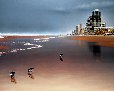 Print featuring the photograph Atlantic Beach by Jim Hill
