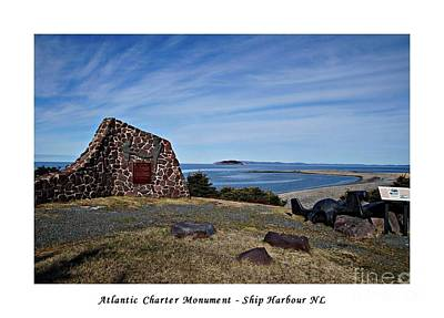 Photograph - Atlantic Charter Monument With Border  by Barbara Griffin