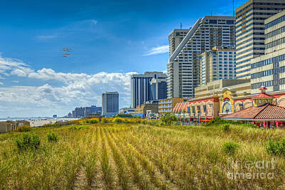 Photograph - Atlantic City Casinos After Sandy by David Zanzinger