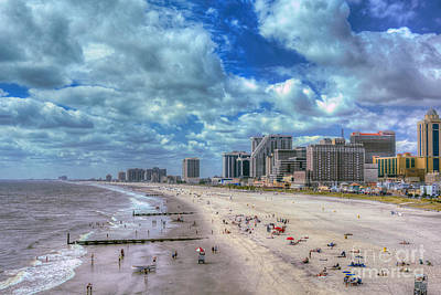 Photograph - Atlantic City Beach New Jersey by David Zanzinger