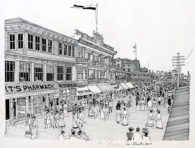 Atlantic City Boardwalk 1900 Original by Ira Shander
