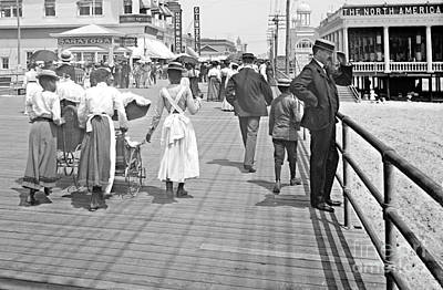 Atlantic City Boardwalk 1902 Art Print