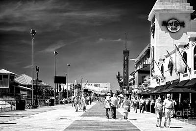 Photograph - Atlantic City Boardwalk Days by John Rizzuto