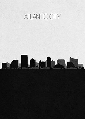 Mixed Media - Atlantic City Cityscape Art by Inspirowl Design