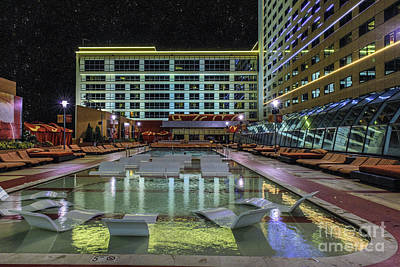 Photograph - Atlantic City Golden Nugget Pool by David Zanzinger