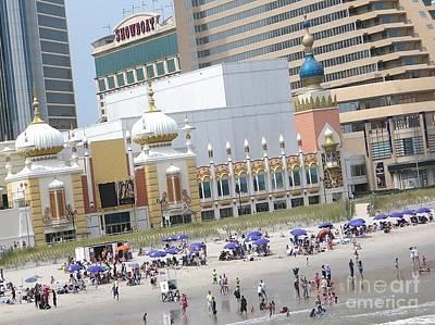 Painting - Atlantic City Hotels Board Walks Beaches Entertainment Centres Tajmahal Hotel Americas Best Photogra by Navin Joshi