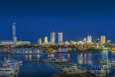Photograph - Atlantic City Marina Hotels by David Zanzinger