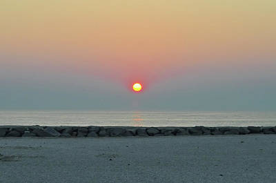 Digital Art - Atlantic City New Jersey - Sunrise On The Beach by Bill Cannon