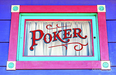 Photograph - Atlantic City Poker Window by John Rizzuto