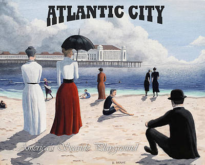 Painting - Atlantic City Poster by Dave Rheaume