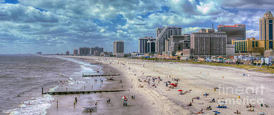 Photograph - Atlantic City Shore by David Zanzinger