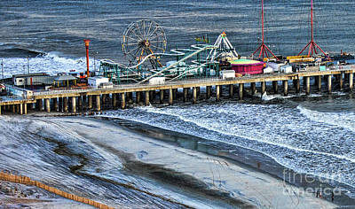 Photograph - Atlantic City Steel Pier Amusement Park 2011 by Chuck Kuhn