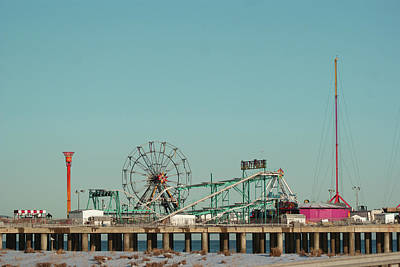 Atlantic City Steel Pier Amusements Art Print by Margie Avellino