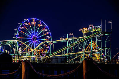 Surrealism Royalty-Free and Rights-Managed Images - Atlantic City Steel Pier at Night by Surreal Jersey Shore