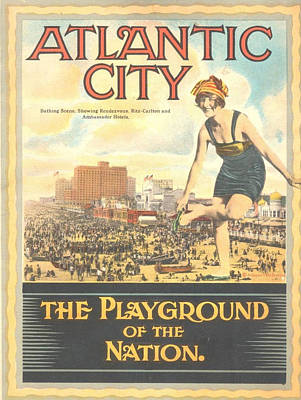 Atlantic City The Playground Of The Nation Art Print by NewJerseyAlmanac