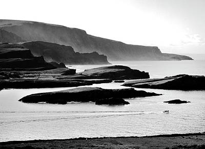 Portmagee Wall Art - Photograph - Atlantic Edge Of Iveragh. Kerry, Ireland.    Black And White by David Lyons