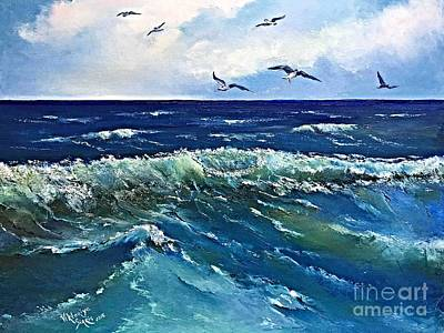 Atlantic In Summer Art Print by Viktoriya Sirris
