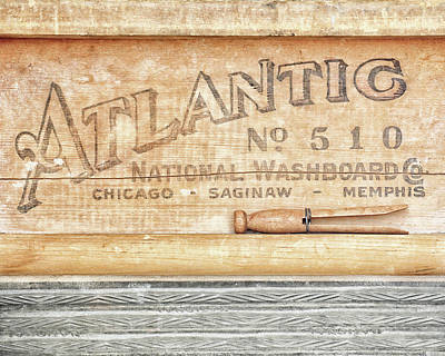 Wash Board Photograph - Atlantic No. 510 by Alison Sherrow I AgedPage