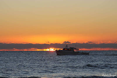 Photograph - Atlantic Ocean Fishing At Sunrise by Robert Banach