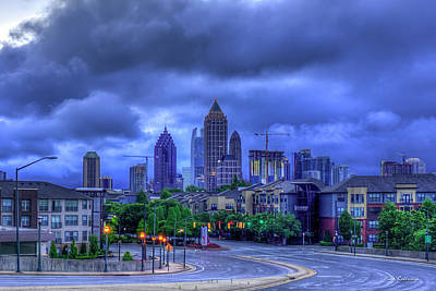 Photograph - Atlantic Station Before Sunrise 3 Midtown Cityscape Art by Reid Callaway