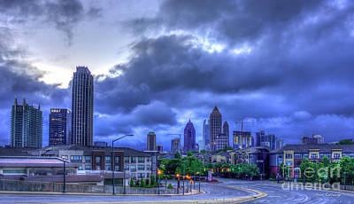 Photograph - Atlantic Station Before Sunrise Midtown Cityscape Art by Reid Callaway