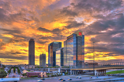Welded Art Photograph - Atlantic Station Reflective Beauty Atlanta by Reid Callaway