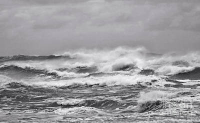 Photograph - Atlantic Storm In Black And White by Sandra Huston
